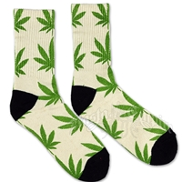 Cannabis Cream Crew socks