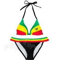 Rasta Lion Halter Top and Rio Bottom Bikini