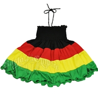 Rasta and Reggae Smocked Dress - Youth's