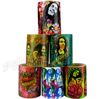 Bob Marley Flame Simulating LED Candle - 4 x 3