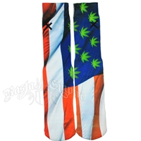 Flag Pot Leaf Socks