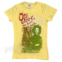 Bob Marley One Love, One Heart Banana T-Shirt - Women's