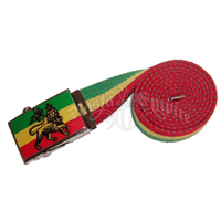 Rasta Conquering Lion of Judah Belt
