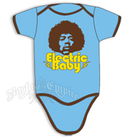 Jimi Hendrix Electric Baby Creeper - Blue/Chocolate