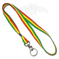 Rasta Lanyard Keychain Necklace