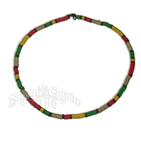 Rasta Bead and Hemp Necklace