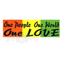 1 People 1 World 1 Love Sticker