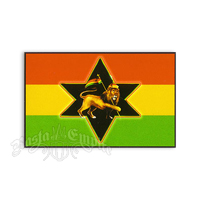 Rasta Lion Star Sticker