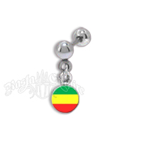 Rasta Cartilage Dangle Body Jewelry