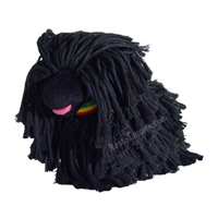 Rasta Plush Dog Squeaker Toy with Natty Dreads