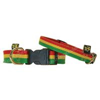 Rasta Color Dog Collar