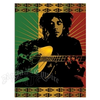 Bob Marley Playing Guitar Tapestry