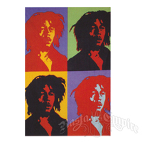 Bob Marley photo like Andy Warhol's Marilyn Monroe