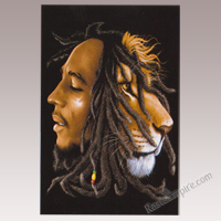 Bob Marley & Lion Profile Tapestry