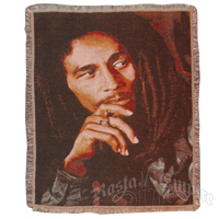 Bob Marley Legend Woven Throw Blanket
