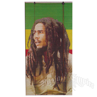 Bob Marley Rasta Portrait Bamboo Window Shade