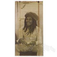 Bob Marley Bamboo Window Blind in Sepia
