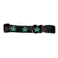Pot / Weed Leaf Dog Collar