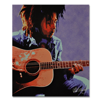 Bob Marley Guitar Canvas Painting 27