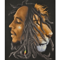 Bob Marley & Lion Profile Fleece Throw