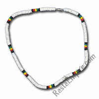 Rasta Coco Beads and Shell Bracelet/Anklet