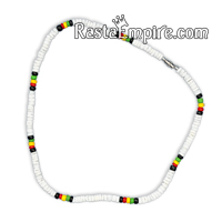 Rasta Coco Beads and Shell Necklace