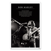Bob Marley One Love Lyrics Poster 24