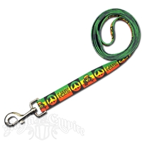 Peace, Love & Rasta Dog Leash