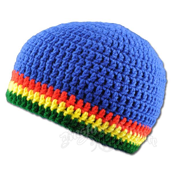 Handmade Royal Blue Rasta Crochet Hat At Rastaempirecom