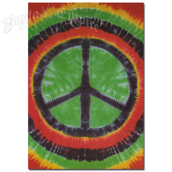 6a08445d Peace Sign Tie Dye Tapestry @ RastaEmpire.com
