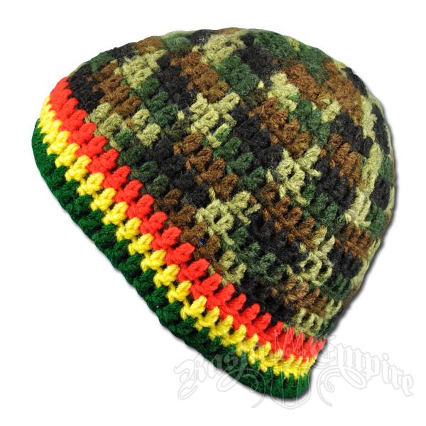 Handmade Rasta Crochet Camouflage Hat   RastaEmpire.com af8645c5b8e