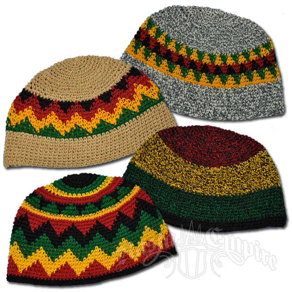 Rasta Multi Color Skull Cap @ RastaEmpire.com