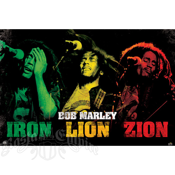 "Bob Marley Iron Lion Zion Poster 36"" x 24"""
