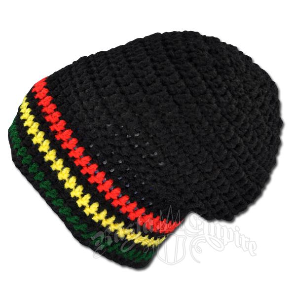 a1b05f61c72 Handmade Rasta Black Crochet Slouch Beanie   RastaEmpire.com