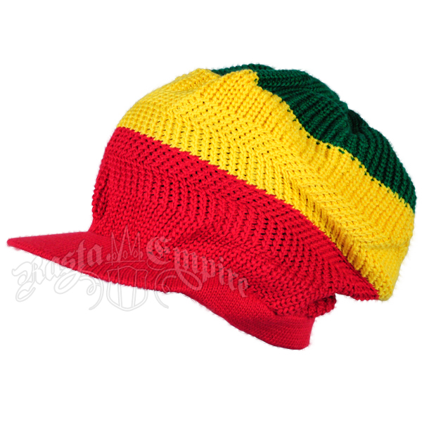 Rasta Wide Stripes Brim Cap