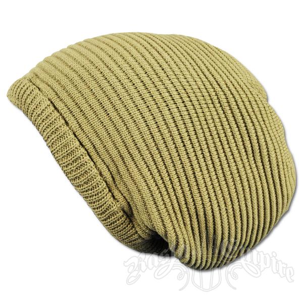 ceb360de944 Solid Khaki Oversized Beanie Cap