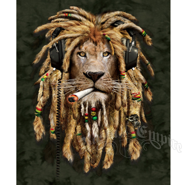 Rasta Lion With Dreads Black And White