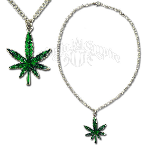 Marijuana Leaf Charm Necklace Rastaempire Com