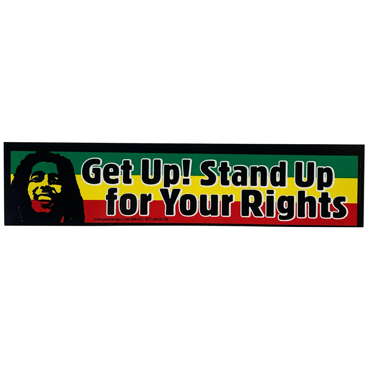 Get up stand up for your rights sticker