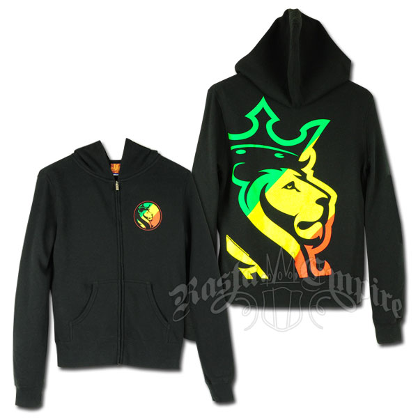 rasta striped lion logo black hoodie womens sweatshirt design ideas - Hoodie Design Ideas