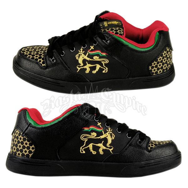 Rasta Lion Of Judah Black Shoes Men S