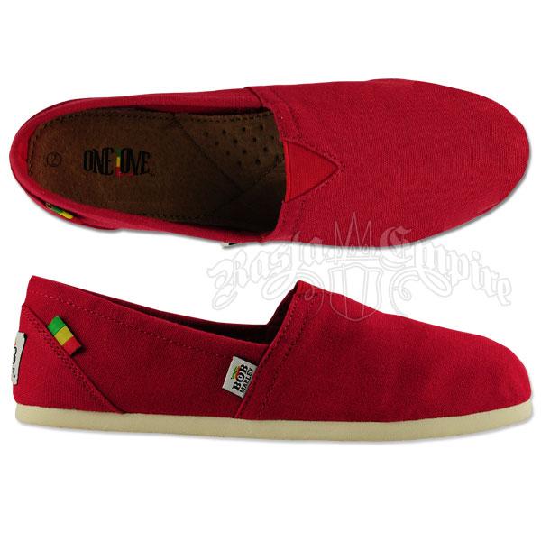 Bob Marley Rita Canvas Red Shoes- Women's