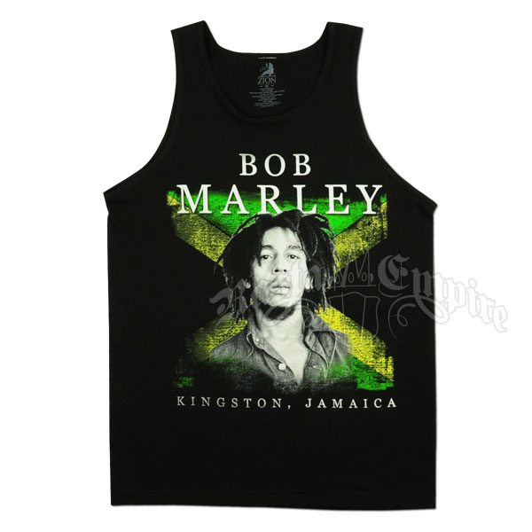Bob Marley Kingston Jamaica Black Tank Top - Men's