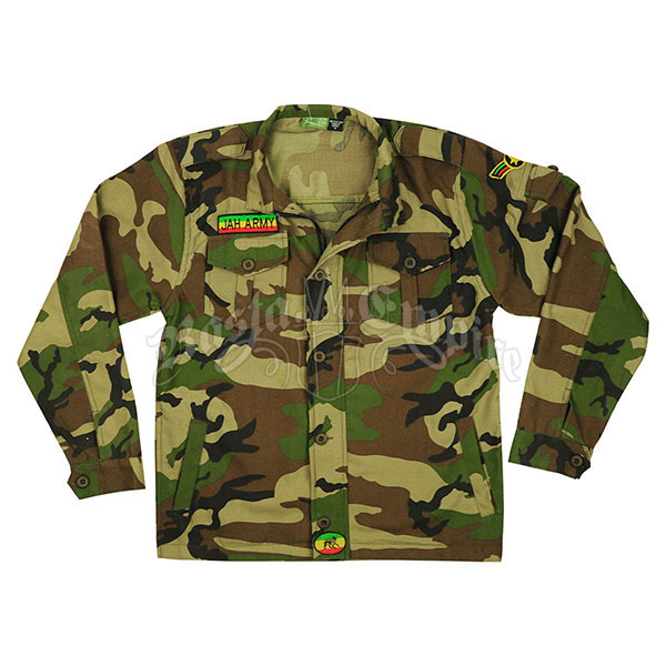 Rasta Camouflage Military Shirt Jacket - Men's @ RastaEmpire.com