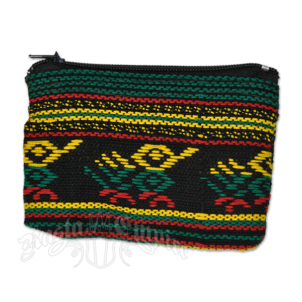 Rasta and Reggae Striped Coin Purse – Small