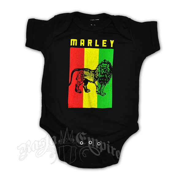 Bob Marley Flag Lion Creeper - Black