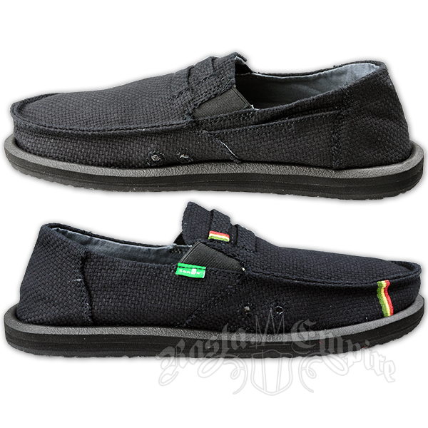 sanuk kingston black jute canvas shoes rastaempire