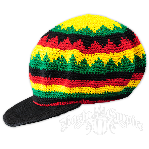 Rasta Crochet Applejack Hat @ RastaEmpire.com
