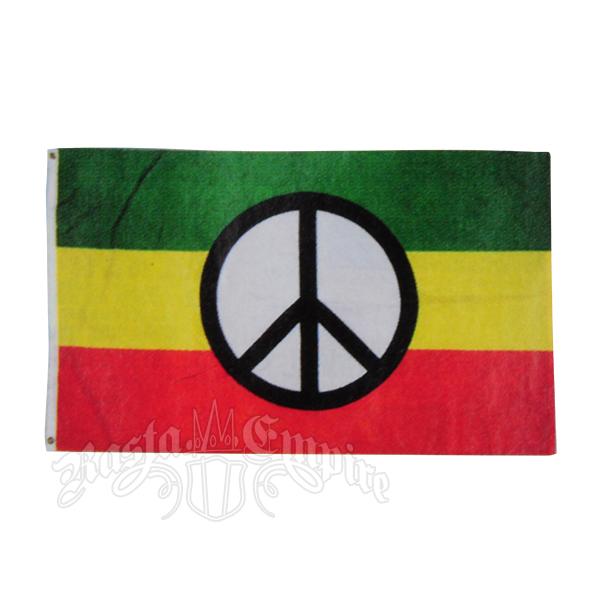 Rasta Peace Sign Flag Rastaempire