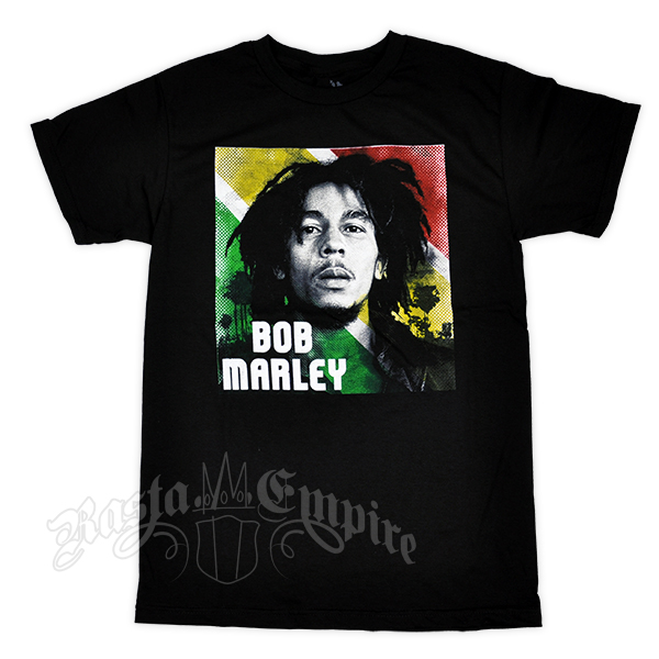 Bob Marley Limited Edition Rasta Portrait Black T-Shirt - Men's